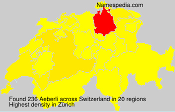 Surname Aeberli in Switzerland