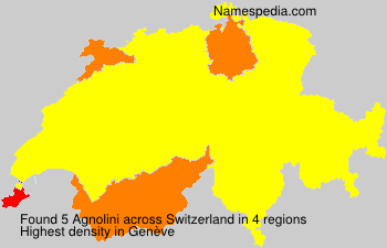 Surname Agnolini in Switzerland