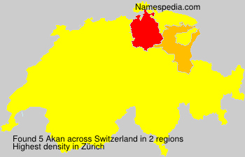 Surname Akan in Switzerland