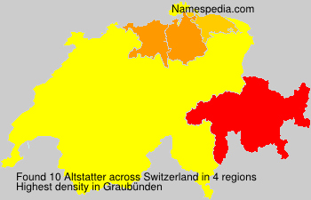 Surname Altstatter in Switzerland