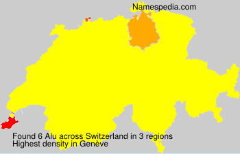 Surname Alu in Switzerland