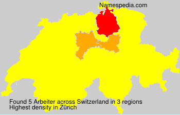 Surname Arbeiter in Switzerland