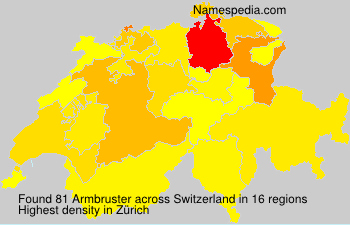 Surname Armbruster in Switzerland