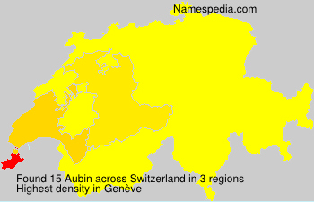 Surname Aubin in Switzerland