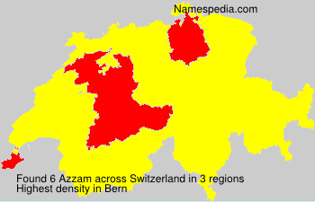 Surname Azzam in Switzerland