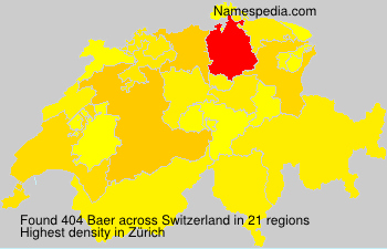 Surname Baer in Switzerland