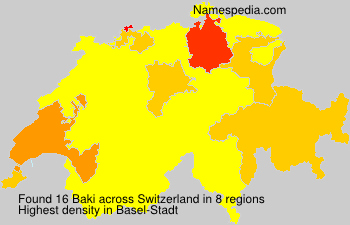 Surname Baki in Switzerland