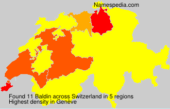 Surname Baldin in Switzerland