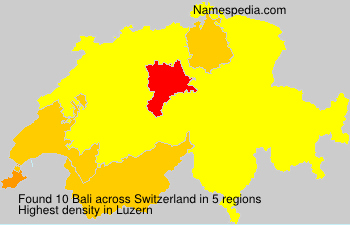 Surname Bali in Switzerland