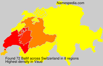 Surname Ballif in Switzerland