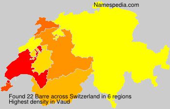Surname Barre in Switzerland