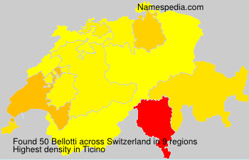 Surname Bellotti in Switzerland