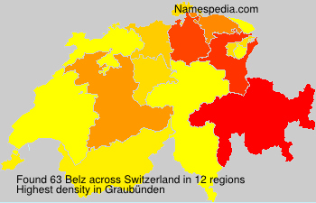 Surname Belz in Switzerland