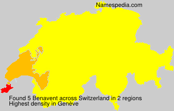 Surname Benavent in Switzerland