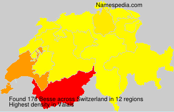 Surname Besse in Switzerland