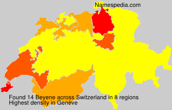 Surname Beyene in Switzerland