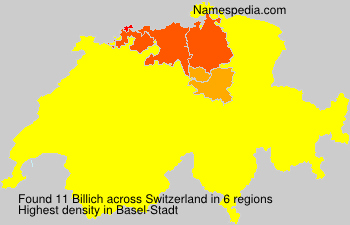 Surname Billich in Switzerland