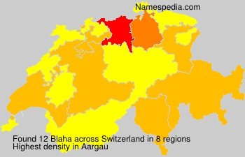 Surname Blaha in Switzerland