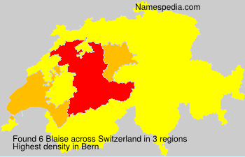 Surname Blaise in Switzerland
