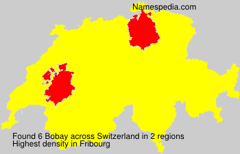 Surname Bobay in Switzerland