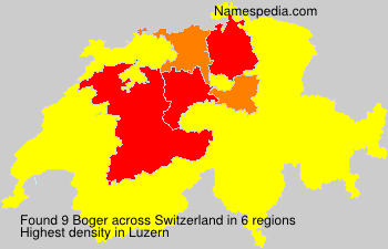 Surname Boger in Switzerland