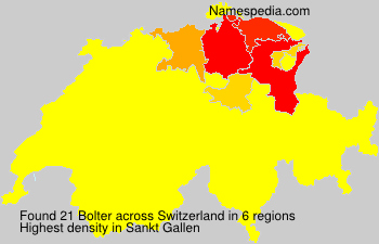 Surname Bolter in Switzerland