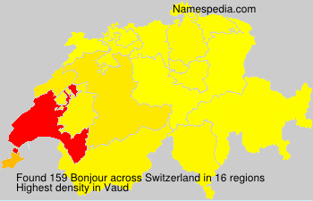 Surname Bonjour in Switzerland