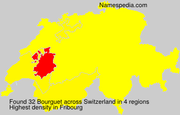 Surname Bourguet in Switzerland