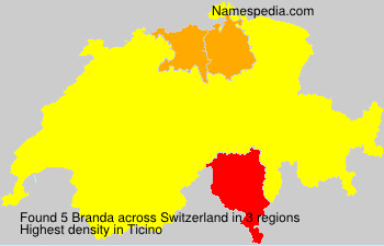 Surname Branda in Switzerland