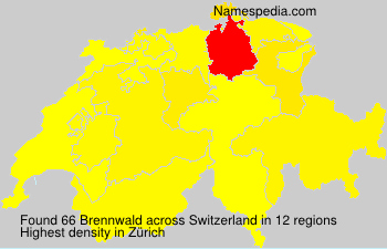 Surname Brennwald in Switzerland