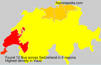Surname Bua in Switzerland