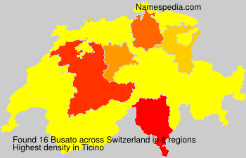 Surname Busato in Switzerland