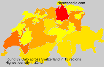 Surname Calo in Switzerland