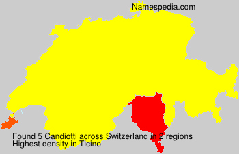 Surname Candiotti in Switzerland