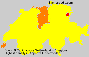 Surname Canic in Switzerland