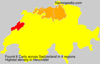 Surname Carlo in Switzerland