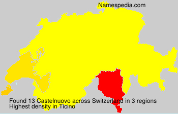 Surname Castelnuovo in Switzerland