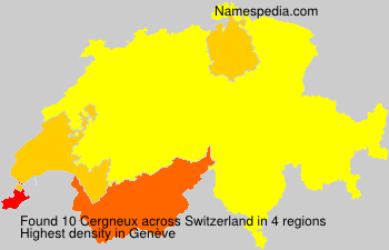 Surname Cergneux in Switzerland