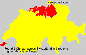 Surname Christof in Switzerland