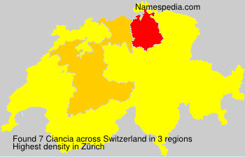 Surname Ciancia in Switzerland