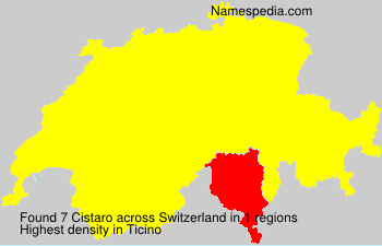 Surname Cistaro in Switzerland