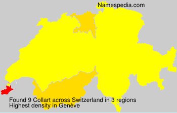 Surname Collart in Switzerland