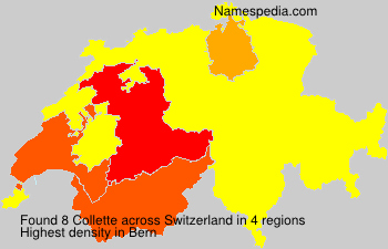 Surname Collette in Switzerland