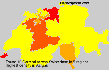 Surname Correnti in Switzerland
