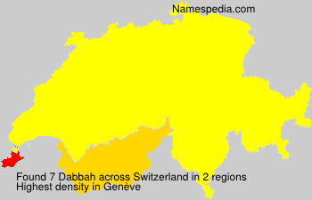 Surname Dabbah in Switzerland