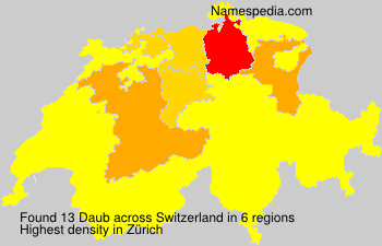 Surname Daub in Switzerland