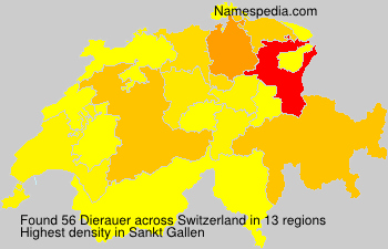 Surname Dierauer in Switzerland