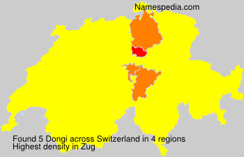 Surname Dongi in Switzerland