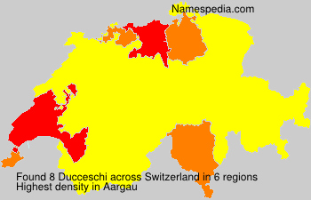 Surname Ducceschi in Switzerland