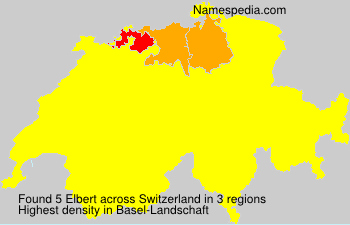 Surname Elbert in Switzerland